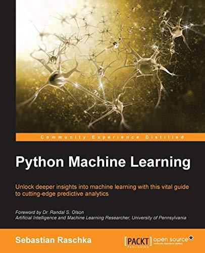 9781783555130: Python Machine Learning, 1st Edition