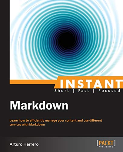 9781783559145: Instant Markdown
