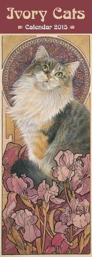 9781783611560: Ivory Cats slim calendar 2015 (Art calendar) (Flame Tree Calendars 2015)