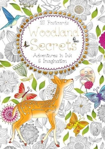 9781783619146: Woodland Secrets Postcard Book: Adventures in Ink and Imagination (Colouring Postcard Books)