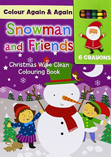 Christmas - Snowman & Friends (Colour Me Again & Again): North Parade Publishing