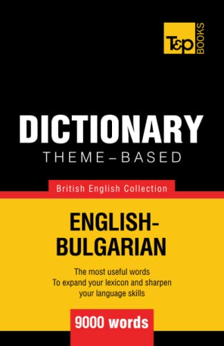 9781784000028: Theme-based dictionary British English-Bulgarian - 9000 words