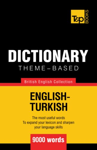 9781784000202: Theme-based dictionary British English-Turkish - 9000 words