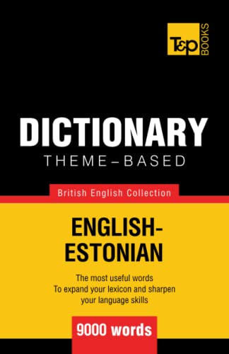 9781784000288: Theme-based dictionary British English-Estonian - 9000 words