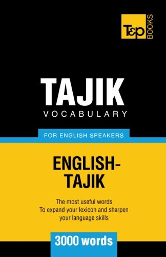 9781784002305: Tajik vocabulary for English speakers - 3000 words