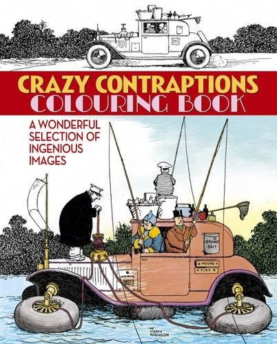 9781784045104: Crazy Contraptions Colouring Book