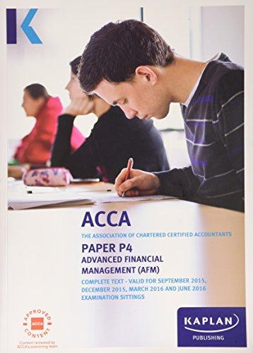 P4 Advanced Financial Management - Complete Text