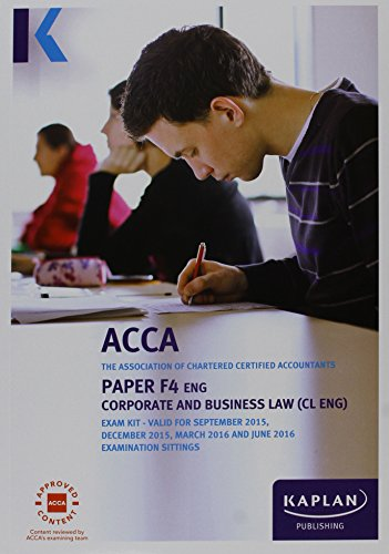 9781784152260: F4 Corporate and Business Law (UK) - Exam Kit