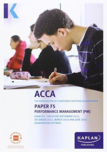 9781784152277: F5 Performance Management - Exam Kit