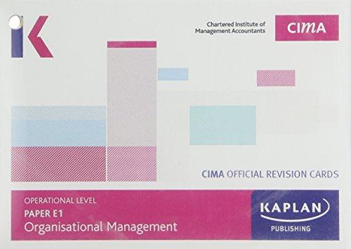 CIMA E1 Organisational Management - Revision Cards