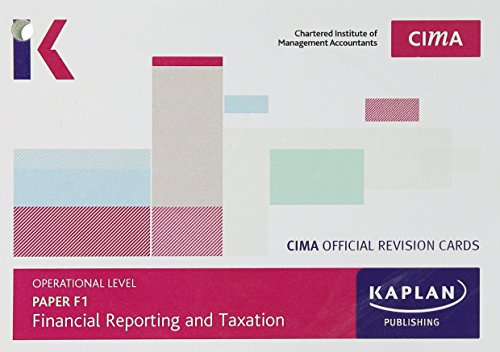 CIMA F1Financial Reporting and Taxation - Revision Cards