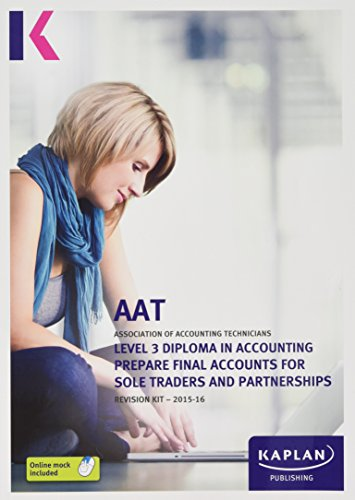 Prepare Final Accounts for Sole Traders and Partnerships - Revision Kit