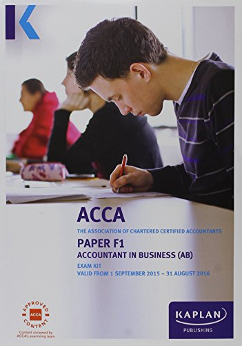 9781784154462: F1 Accountant in Business - Exam Kit (Acca Exam Kits)