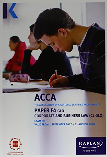9781784158286: F4 Corporate and Business Law - Exam Kit
