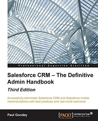 9781784397562: Salesforce CRM - The Definitive Admin Handbook - Third Edition