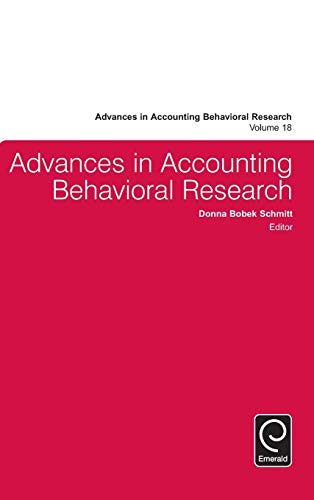 9781784416362: Advances in Accounting Behavioral Research