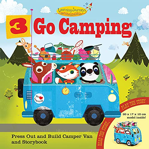 9781784453138: 3 Go Camping: Press Out and Build Camper Van and Storybook (Learning Journeys)