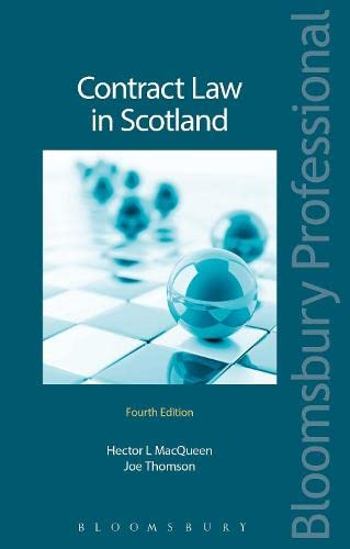 9781784513160: Contract Law in Scotland