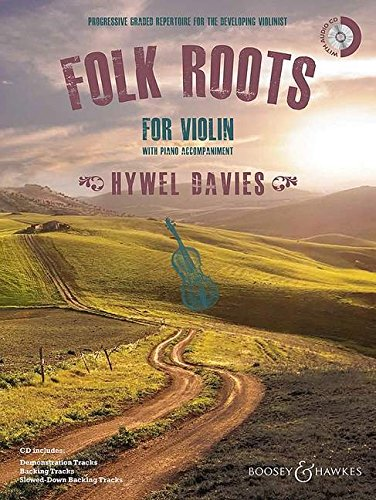 9781784540494: Folk Roots For Violin Bk/CD With Piano Accompaniment