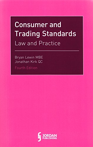 9781784731809: Consumer and Trading Standards: Law and Practice (Fourth Edition)