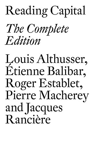 Reading Capital: Althusser, Louis/ Balibar,