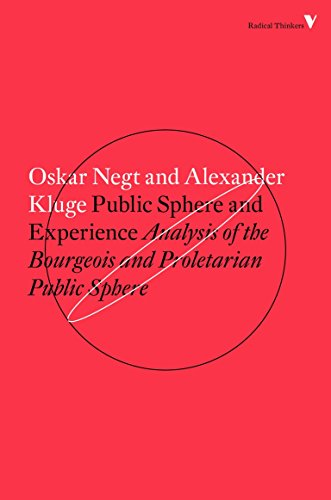9781784782412: Public Sphere and Experience: Toward an Analysis of the Bourgeois and Proletarian Public Sphere (Radical Thinkers)