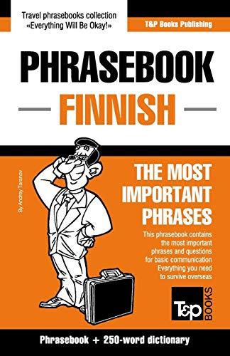 English-Finnish phrasebook and 250-word mini dictionary: Taranov, Andrey