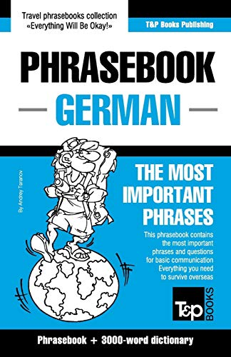 9781784924249: English-German phrasebook and 3000-word topical vocabulary