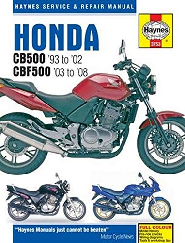 Honda CB500 Service and Repair Manual: NA