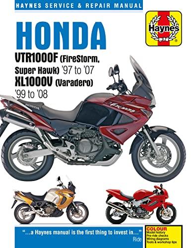 9781785210129: Honda VTR1000F (Firestorm, Superhawk) & XL1000V (Varadero) Service and Repair Manual: 1997 to 2008 (Haynes Service and Repair Manuals)