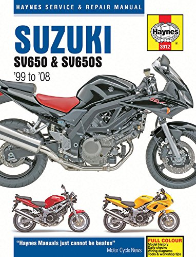 Suzuki SV650 & SV650S Motorcycle Repair Manual: 99-08: Anon