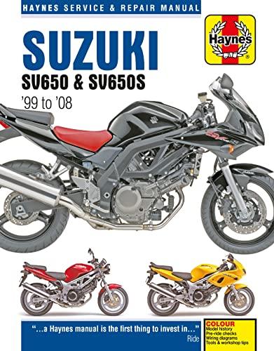 Suzuki SV650 & SV650S 1999 - 2008 (Haynes Service & Repair Manual): Anon
