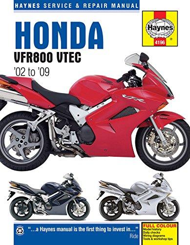 Honda Vfr800 V-tec V-fours Motorcycle Repair Manual (Paperback): Anon