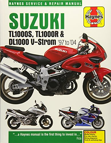 Suzuki TL1000S, TL1000R & DL1000 V-Strom '97 to '04 (Haynes Service & Repair Manual...