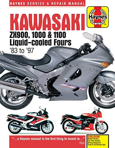 Kawasaki Zx900, 1000 & 1100 Liquid-cooled Fours Motorcycle Repair Manual (Paperback): Anon