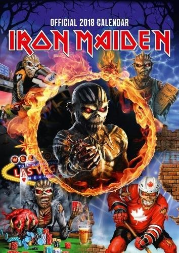 Iron Maiden Official 2018 Calendar - A3 Poster Format: Danilo Promotions Limited