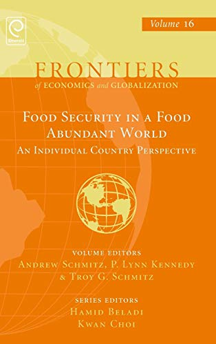 9781785602153: 16: Food Security in a Food Abundant World: An Individual Country Perspective (Frontiers of Economics and Globalization)