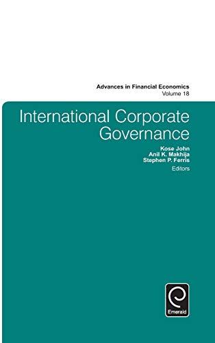9781785603556: International Corporate Governance (Advances in Financial Economics)