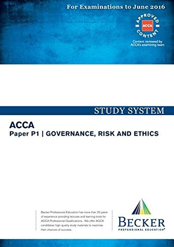 9781785661211: P1 Governance, Risk and Ethics: Study System