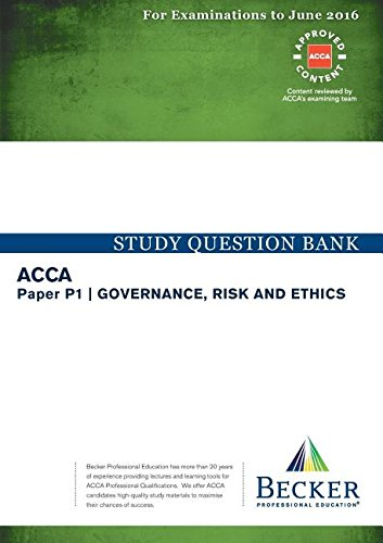 9781785661228: P1 Governance, Risk and Ethics: Study Question Bank