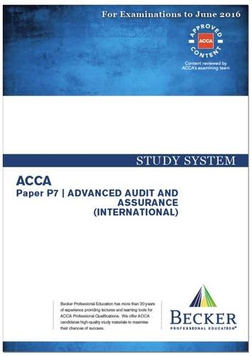 9781785661891: ACCA - P7 Advanced Audit and Assurance