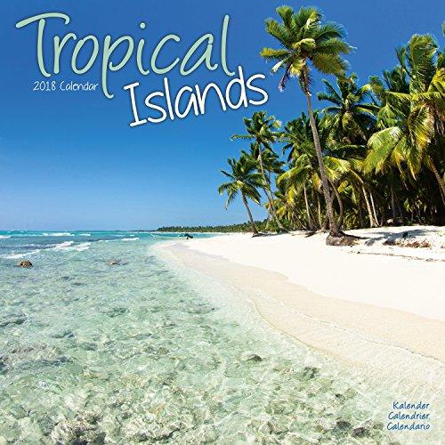 Beaches Calendar - Calendars 2017 - 2018 Wall Calendars - Sunset Calendar - Photo Calendar - Tropical Islands 16 Month Wall Calendar by Avonside