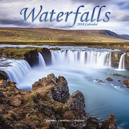 Waterfalls Calendar - Calendars 2017 - 2018 Wall Calendars - Photo Calendar - Waterfalls 16 Month Wall Calendar by Avonside
