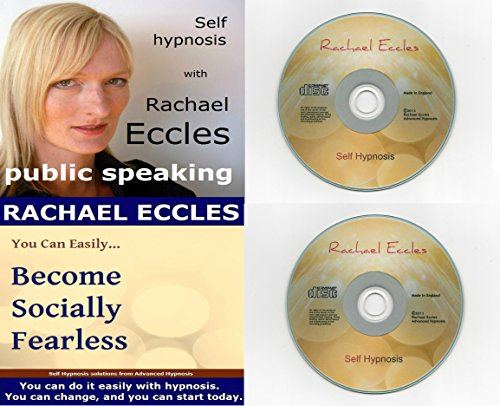 9781785870491: Self Hypnosis CDs Pack of Two: Public Speaking Confidence & Socially Fearless Self hypnosis, hypnotherapy, Hypnosis CDs Twin Pack