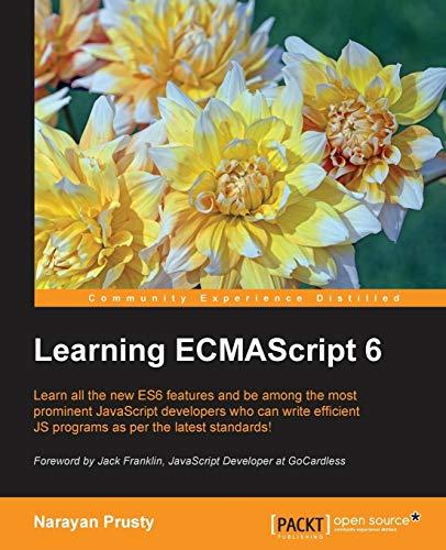 9781785884443: Learning ECMAScript 6