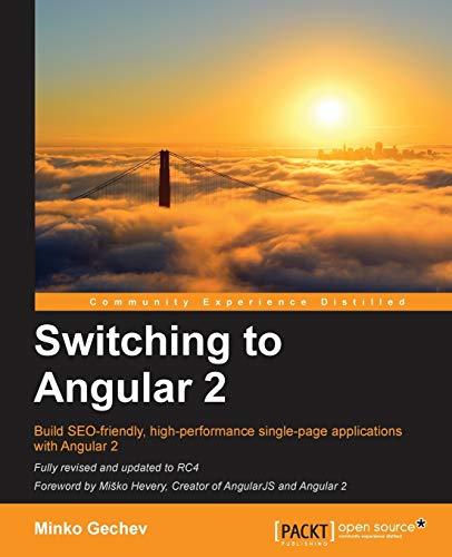 9781785886201: Switching to Angular 2
