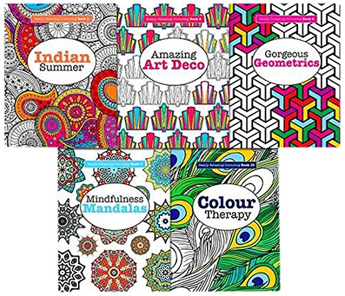 9781785950643: Art Therapy Really Relaxing Anti Stress Adult Colouring 5 Books Collection Set