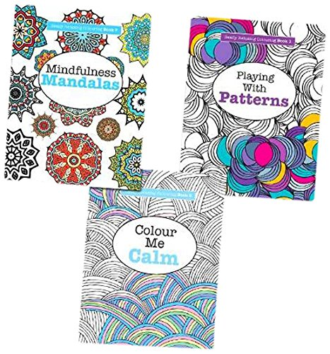 9781785950674: Really Relaxing Colour Me Calm Art Therapy Books Collection Set