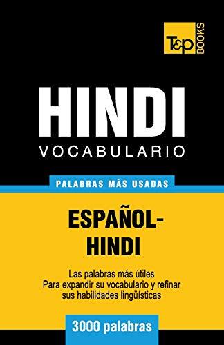 9781786165626: Vocabulario Espanol-Hindi - 3000 Palabras Mas Usadas