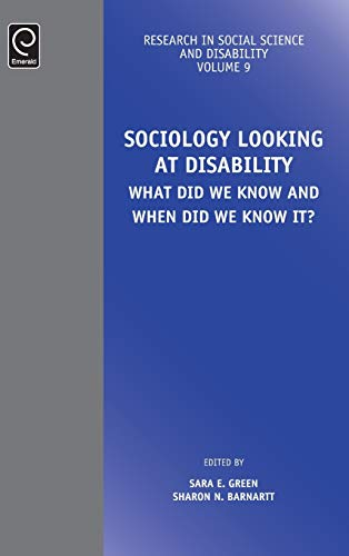 9781786354785: Sociology Looking at Disability: What Did We Know and When Did We Know It? (Research in Social Science and Disability)